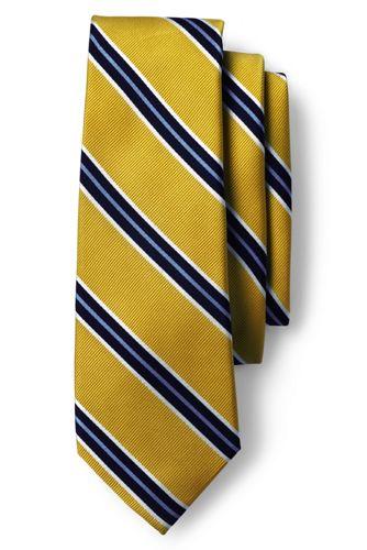 Men's Regular Preppy Stripe Hand-sewn Silk Tie