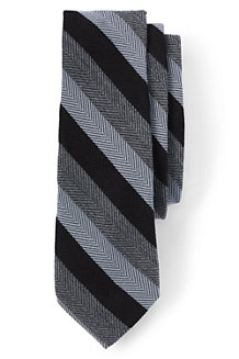 Men's Herringbone Stripe Wool/Silk Tie