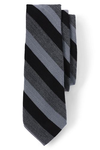 Men's Regular Herringbone Stripe Wool/Silk Tie