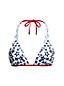 Women's Star Print Triangle Bikini Top