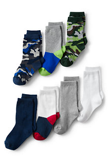 Boys' 7-Pack Patterned Socks