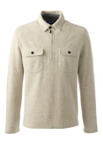 Men's Regular Brushed Half-zip Pullover