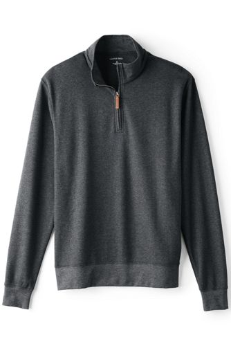Men's Regular Supima Jacquard Half-zip Pullover