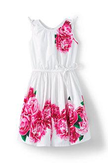 Girls' Tie Shoulder Floral Twirl Dress
