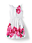 Little Girls' Tie Shoulder Floral Twirl Dress