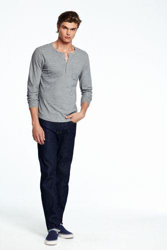 Men's Striped Jersey Henley