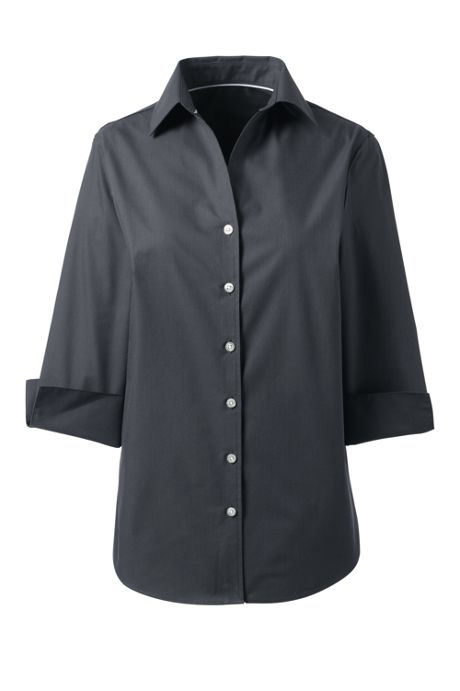 Women's 3/4 Sleeve Tonal Stripe Dress Shirt
