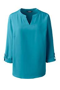 b4cace8b9b2eb ... 3 4 Sleeve Boatneck Peplum Top. Sale price 28.97Original price 54.95. Women s  Plus Size Bracelet Sleeve Split Neck Soft Blouse