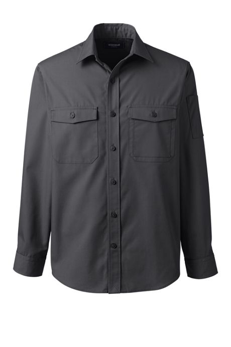 Men's Big Long Sleeve Iron Elbow Work Shirt