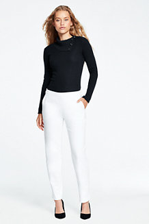 Women's Cropped Slim Leg Trousers