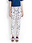 Women's Cropped Slim Leg Patterned Trousers