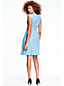 Women's Cap Sleeve Pleat Front Dress
