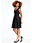 Women's Cap Sleeve Pleat Front Dress