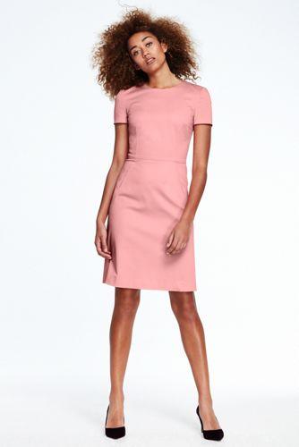 Women' Short Sleeve A-line Dress