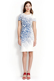 Women' Print Short Sleeve A-line Dress