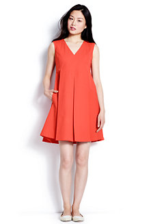 Women's Piqué Pleat Front Dress