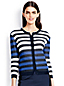 Women's Cotton Blend Textured Stripe Cropped Cardigan
