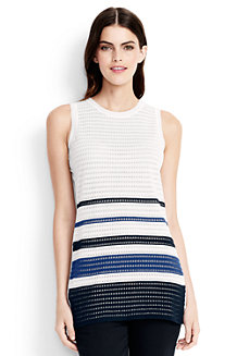 Women's Sleeveless Striped Textured Tunic