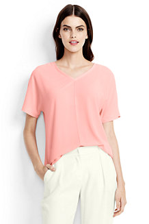 Le T-Shirt Casual Col V Femme