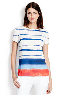 Women's Rounded Hem Stripe Tee