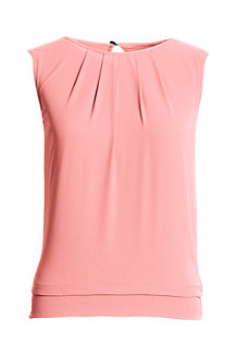 Women's Sleeveless Pleated Top