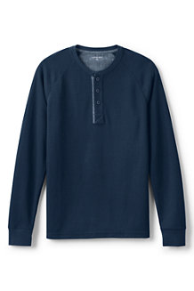 Men's Regular Rib Henley Top