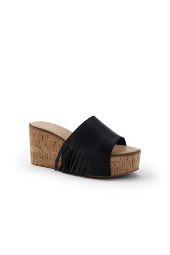 Women's Fringed Platform Sandals