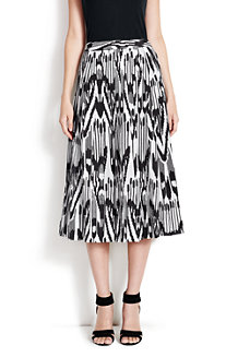 Women's Print Pleated Midi Skirt