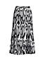 Women's Print Pleated Midi Skirt