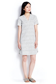 Women's Woven Stripe Shift Dress