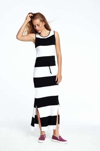Women's Sleeveless Stripe Maxi Dress