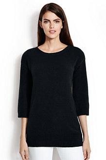 Langer Pullover mit 3/4-Ärmeln