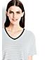 Women's Stripe Slouchy V-neck Tee