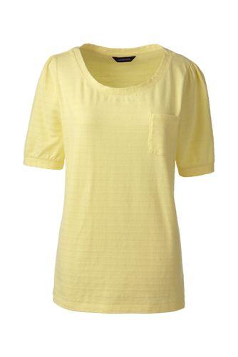 Jacquard-Shirt mit halblangem Ärmel