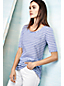 Women's Regular Elbow Sleeve Jacquard Top