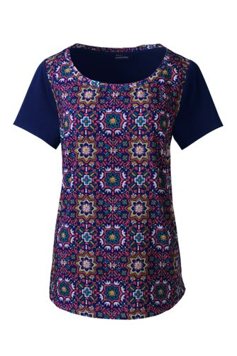 Women's Tile Print Jersey T-shirt