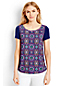Women's Regular Tile Print Jersey Tee