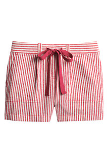 Women's Striped Linen/Cotton Shorts