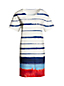 Women's Stripe Crepe T-Shirt Dress