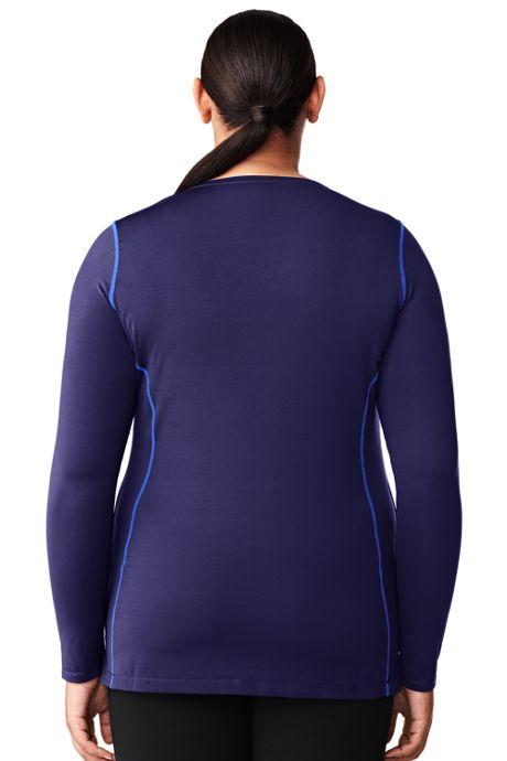 Women's Plus Size Active Long Sleeve Tunic Top