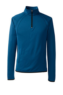 Sport Fleece-Trainingsshirt in Troyer-Form für Herren