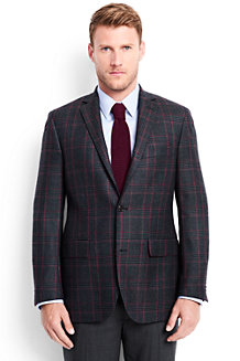 Men's Glen Plaid Wool Blazer