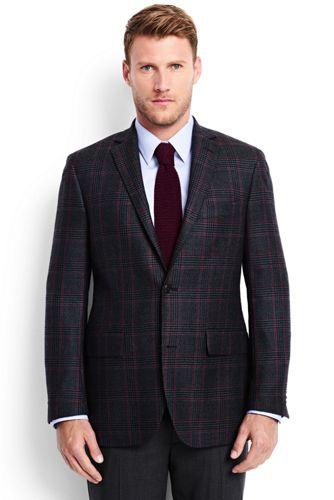 Karo-Blazer aus reiner Wolle für Herren, Modern Fit