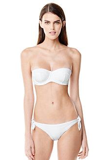 Women's White Bandeau Bikini Top