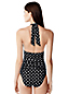 Women's Halterneck Polka Dot Swimsuit