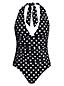 Women's Halterneck Polka Dot Swimsuit