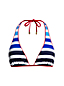 Women's Stripe Triangle Bikini Top