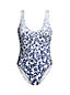 Women's Star Print Scoopneck Swimsuit