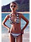 Le Bas de Bikini Rayé à Broderie, Femme Stature Standard