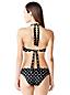 Neckholder-Bikinitop, Gepunktet